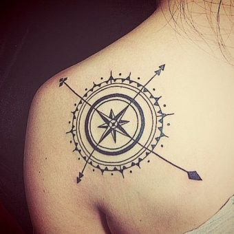 Compass Tattoos for women