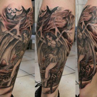 angel & devil tattoos