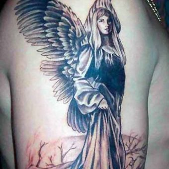guys with angel tattoos