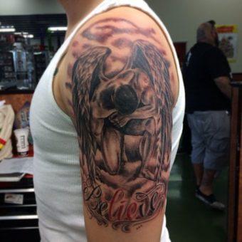angel tattoossleeves designs