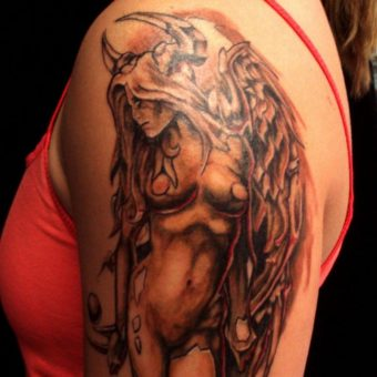 angel tattoos for girl