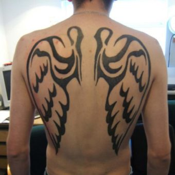 angel wing tattoos on your back