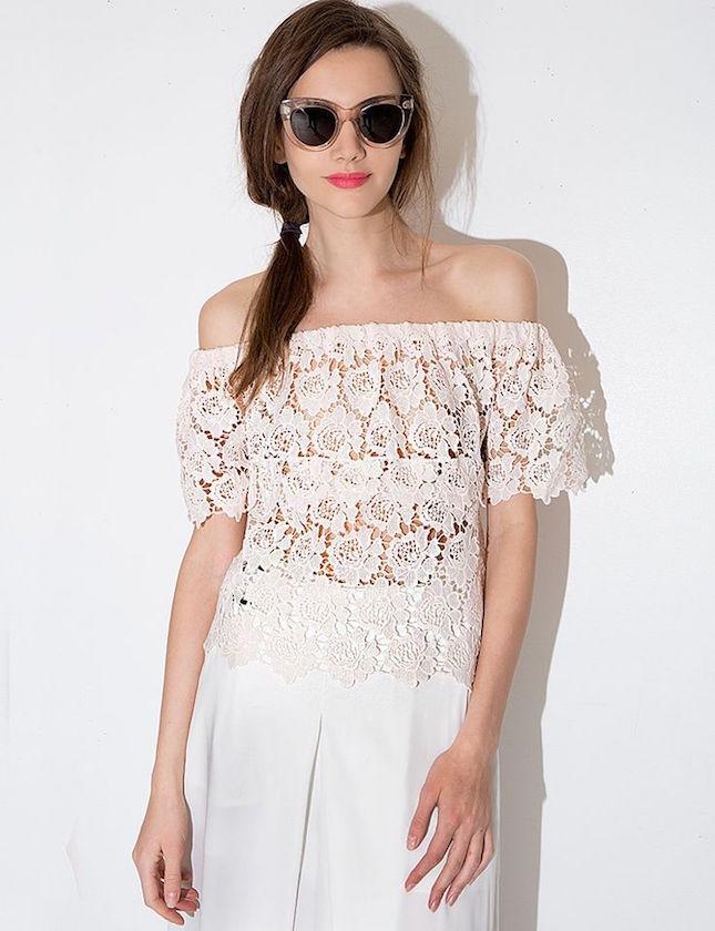 off shoulder tops or dresses
