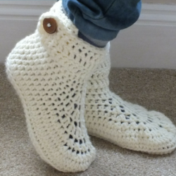 crochet sock slippers patterns