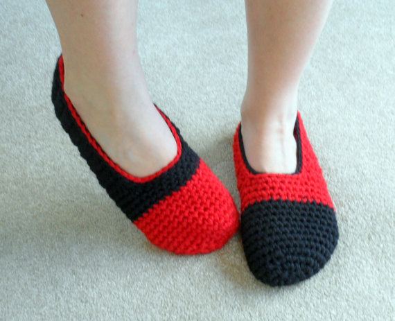 Crochet Slipper Sock Pattern Image Collections Knitting Patterns