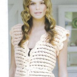 Crochet Cotton vVest Pattern