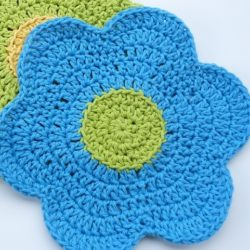 Crochet Dishcloth Flower Pattern