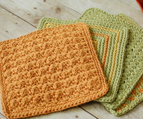 Crocheting Dishcloths For Beginners : easy crochet dishcloth patterns for beginners