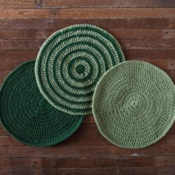 crochet round dishcloth patterns