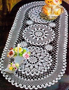 free crochet table runner doily pattern