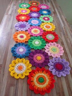 Crochet Flower Table Runner Patterns