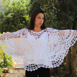 Lacy Fans Poncho
