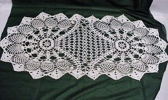 Crochet Oval Table Runner Pattern