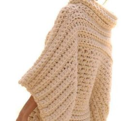 Crochet Patterns Poncho Bulky