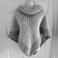 poncho patterns crochet cowl neck