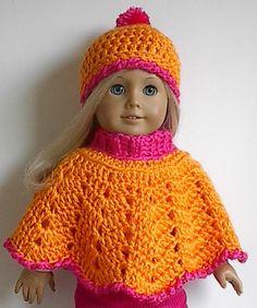 Crochet Doll Cape Pattern : 37 Creative Crochet Poncho Patterns For You Patterns Hub