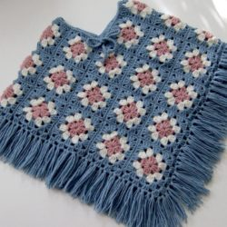 Girls Poncho Crochet Pattern