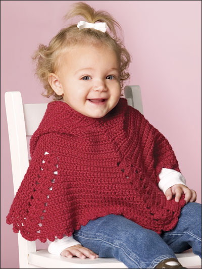Free Crochet Pattern For A Baby Cowgirl Outfit : 37 Creative Crochet Poncho Patterns For You - Patterns Hub