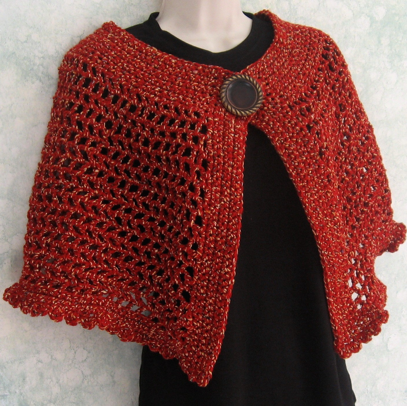 37 creative crochet poncho patterns for you patterns hub crochet poncho with buttons pattern bankloansurffo Choice Image