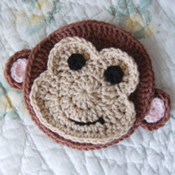 Crochet Sock Monkey Applique Pattern