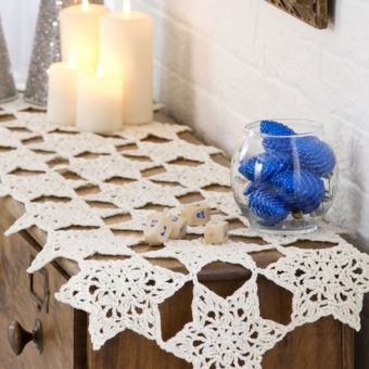 Crochet Star Table Runner Pattern