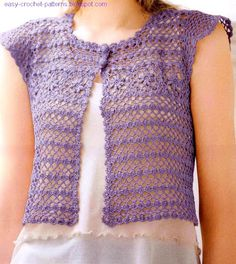 Free Crochet Pattern Lace Vest : 32 Free Crochet Vest Patterns for Beginners - Patterns Hub