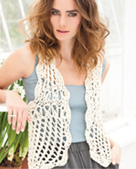 Free Crochet Pattern Lace Vest : 32 Free Crochet Vest Patterns for Beginners ? Patterns Hub