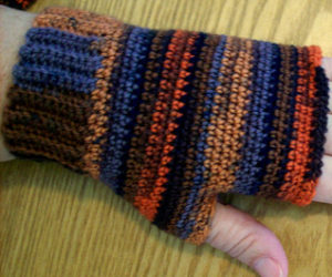 Fingerless Sock Yarn Hobo Gloves Pattern