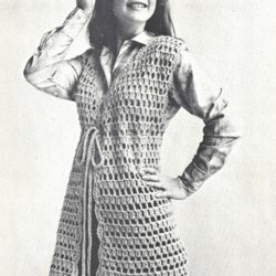 retro crochet vest patterns