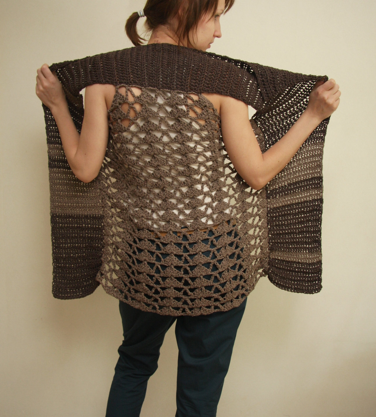 Black Crochet Vest Pattern Splinter Vest