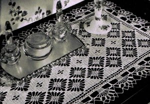 crochet thread table runner patterns