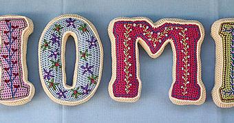crochet letters 3d pattern