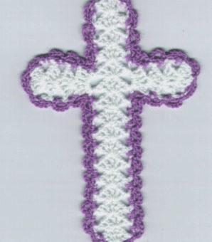 crochet bookmark cross