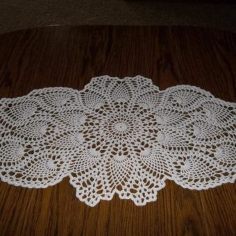free crochet coffee table runner pattern