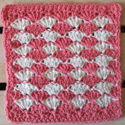 Crochet Dishcloth Shell Pattern