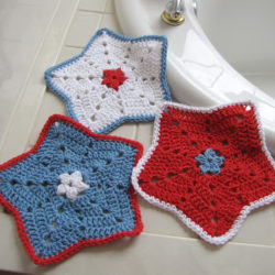 Crochet Dishcloth Star Pattern