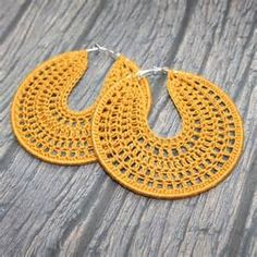 crochet hoop earring patterns free