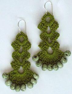 14 beautiful crochet earring patterns patterns hub crochet earring patterns beads ccuart Gallery