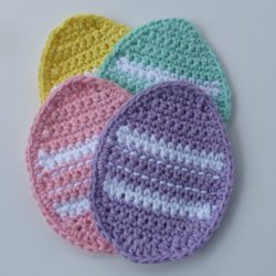 free crochet easter dishcloth patterns