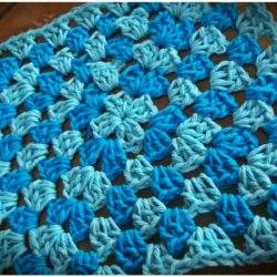 crochet dishcloth granny square pattern