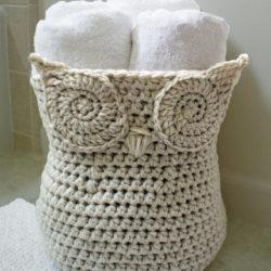 Crochet Owl Basket Pattern Free
