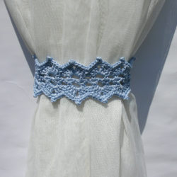 Easy Crochet Curtain Tieback