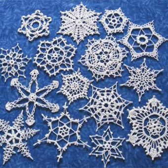 free christmas crochet snowflake patterns