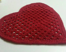 crochet placemat crochet pattern red heart