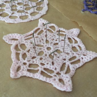 crochet snowflake blocking pattern