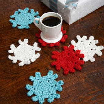 crochet snowflake coaster pattern