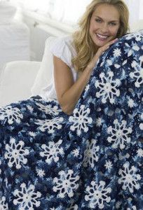 crochet snowflake pattern blanket