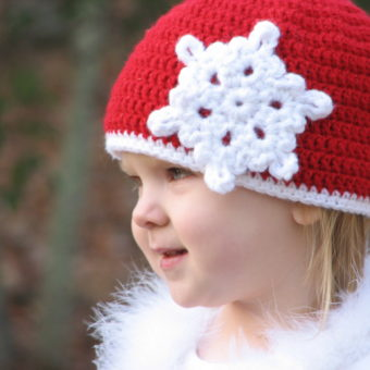 crochet snowflake hat pattern