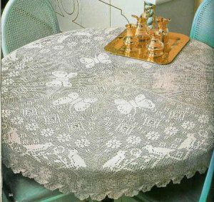 Crochet Snowflake Tablecloth Pattern