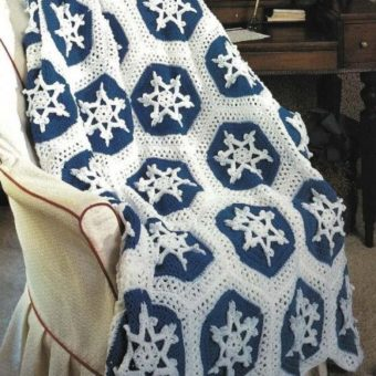 Crochet Snowflake Throw Pattern